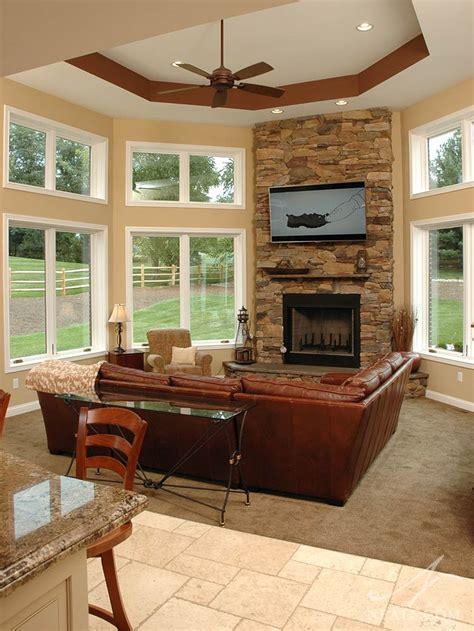 fire place in sun room sunroom fireplace