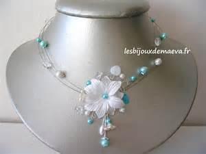 collier pour mariage bijoux mariage turquoise collier fantaisie mariée fleur des neiges