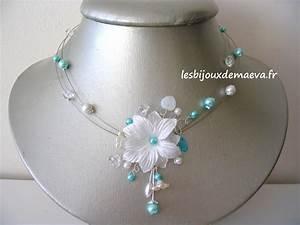 bijoux mariage turquoise collier fantaisie mariee fleur With magasin mariage avec bijoux or blanc