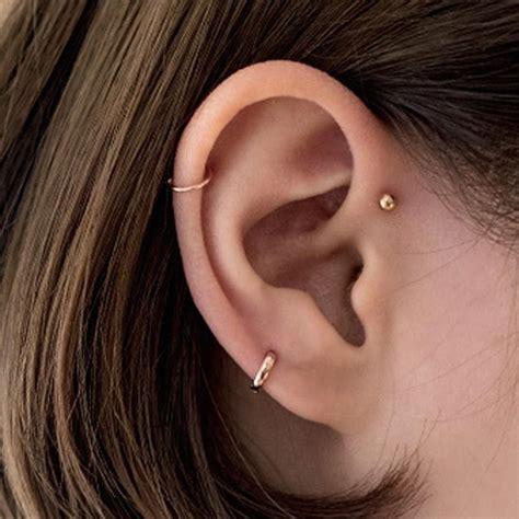 tiny cartilage huggie hoop earrings mm mm