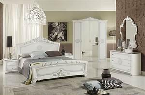 Schlafzimmer Great Weiss Silber Klassische Design