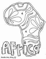 Coloring Africa African Geography Continent Culture Continents Animals Map Safari Printable Getcolorings Printables Colorin Classroomdoodles Getdrawings Colorings sketch template