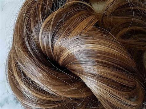 couleur cheveux noisette avec meche blonde coupes de