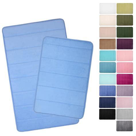 Non Slip Backing For Rugs by Microfibre Memory Foam Bathroom Bath Mat 22 Colours