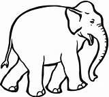 Elephant Coloring Printable Drawing Animals Clipart Clip Wildlife Clipartbest Abstract Anggi sketch template