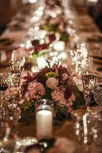 reception decor photos low centerpieces in burgundy and With burgundy wedding reception decorations