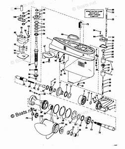 Johnson Outboard Parts By Year 1972 Oem Parts Diagram For Gearcase