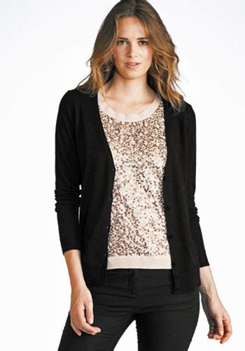 womens black sweater beat the chill with an attractive black cardigan