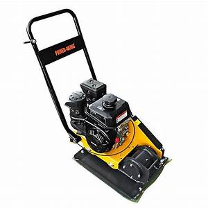 Power King 23 In  X 15 75 In  6 Hp Plate Compactor With