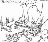 Coloring Pages Mountain Mountains Printable Nature Bestcoloringpagesforkids Sheets Colorings Books sketch template
