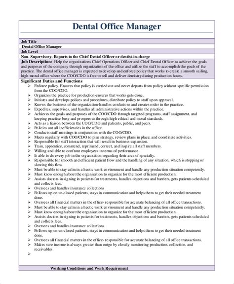 Office Manager Resume Sle by Office Manager Description Teacheng Us