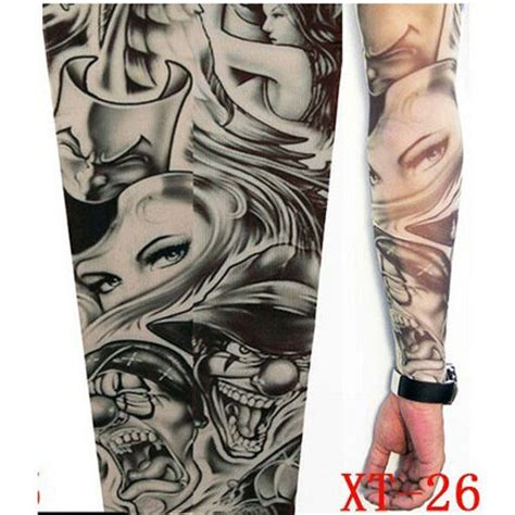 fake tattoo sleeve cloth arm design party sleeves fancy