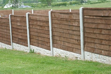 concrete post timber panel fencing frs fencing