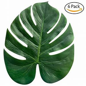 6Pcs/Pack Artificial Tropical Leaf Plant Leaves Palm