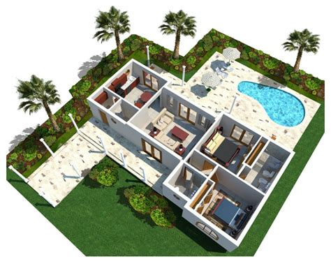 house plans with swimming pools architecture 3d modern luxury home plan with curve