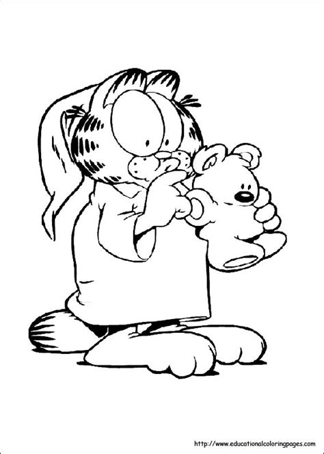 coloring pages  kids garfield coloring pages
