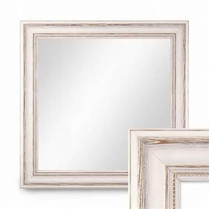 Spiegel 40 X 50 : wand spiegel 50x50 cm im massivholz rahmen landhaus stil weiss quadratisch spiegelfl che 40x40 ~ Bigdaddyawards.com Haus und Dekorationen
