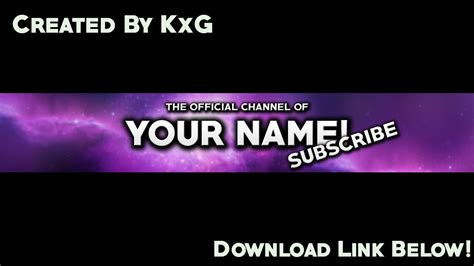 channel template psd banner channel 2016 template psd free