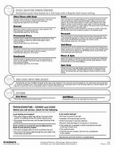 Kenmore Residential Washers Manual L0705116