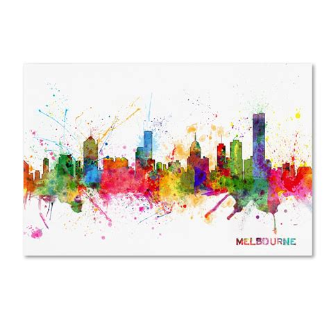 wall decor melbourne michael tompsett melbourne skyline wall home