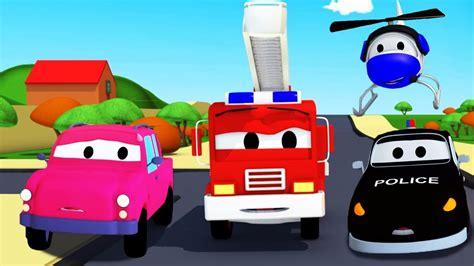 super patrulha caminhao de bombeiro carro de policia