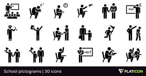 school pictograms  premium icons svg eps psd png files