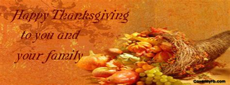 happy thanksgivings facebook cover