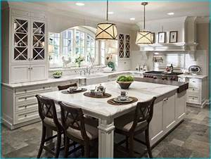 Elegant Kitchen Island With Seating And Best 25 Kitchen