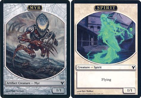 mtg modern event deck x 1 myr spirit token c nm