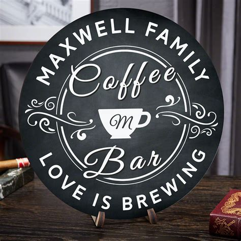 Ninja coffee bar is the only coffee brewing system you need to brew single cup sizes to carafes and good ol' black joe to frothy cappuccinos. Love Is Brewing Personalized Coffee Bar Sign in 2020 | Bar ...