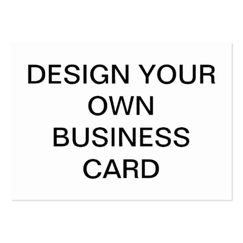 Design Your Own Custom Business Card Zazzle