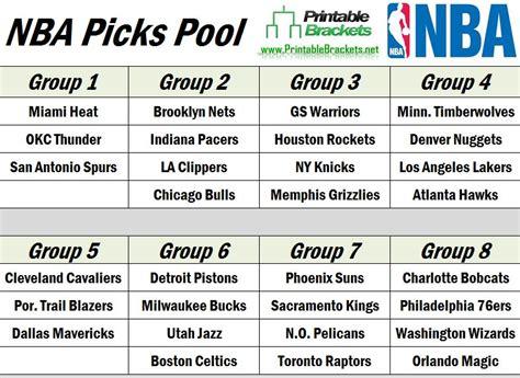 nba picks nba picks pool  nba picks
