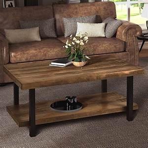Harper, U0026bright, Designs, Industrial, Rectangular, Pine, Wood, Coffee, Table, Rustic, Design