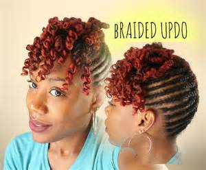 Braided Updo Natural Hair with Bangs