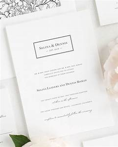 boxed monogram wedding invitations wedding invitations With monogram for wedding invitations etiquette