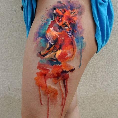 watercolor fox tattoo designs amazing tattoo ideas