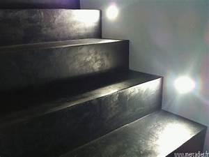 Beton Cire Deco : beton cire escalier id e deco pinterest beton cir ~ Premium-room.com Idées de Décoration