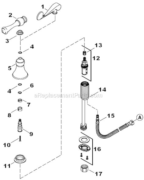 Kohler Kitchen Faucet Parts Diagram by Kohler K 16109 4 Parts List And Diagram