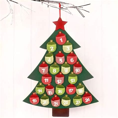 felt christmas tree advent calander by posh totty designs