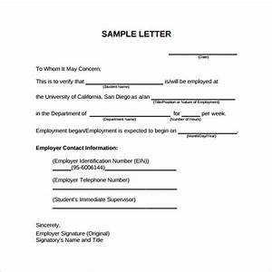18 Employment Verification Letter Templates Download for Free Sample Templates