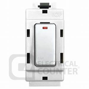 Bg Grid Switch G31 White Nexus Grid 20 Amp Double Pole