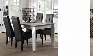Table A Manger Blanc Et Bois : table manger couleur bois blanc et clair contemporaine jackson ~ Teatrodelosmanantiales.com Idées de Décoration