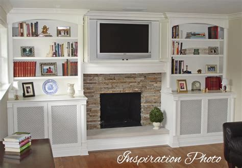 built in bookcases around fireplace put a little my sister 39 s family room