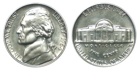 1964 nickel value 1964 jefferson nickels pre war composition value and prices