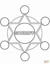 Coloring Sheriff Star Pages Printable Police Dot Categories sketch template