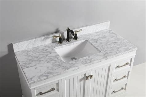 tuscany    carrara marble vanity top  wave
