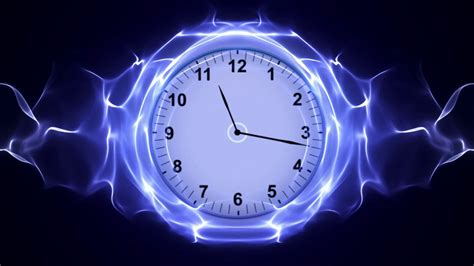 Time Animated Wallpaper - clock time travel in fibers ring rendering animation