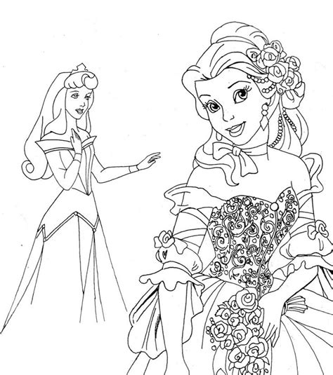 Coloring Princess by Free Printable Disney Princess Coloring Pages For