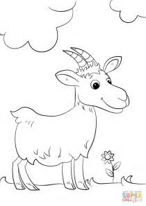 cute cartoon goat coloring page  printable coloring