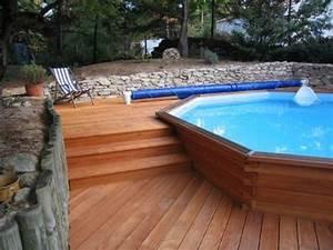 piscine bois semi enterree recherche google piscine With piscine bois semi enterree installation